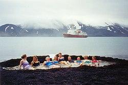 Warm volcanic bath at Port Foster, Deception Island