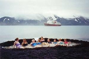 MV Explorer (1969) - Tourists at Deception Island (2006).
