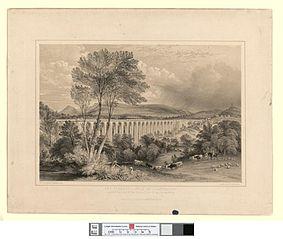 Dee Viaduct: vale of Llangollen