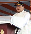 Defence Minister Arun Jaitely speaking at the commissioning of INS Kamorta (closeup).jpg