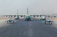Defenders and C-130s (16434433341)