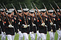 Defense.gov News Photo 100615-M-1549W-221 - U.S. Marines from Marine Barracks Washington march by during the pass and review portion of the Sunset Parade at the Marine Corps War Memorial in.jpg