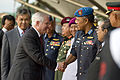 Defense.gov News Photo 101109-D-7203C-026 - Secretary of Defense Robert M. Gates shakes hands with Defense officials as he leaves the Defense Ministry building in Kuala Lumpur Malaysia on.jpg
