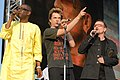 Deine Stimme Gegen Armut P8 concert Youssou N'Dour, Campino & Bono (535182536).jpg