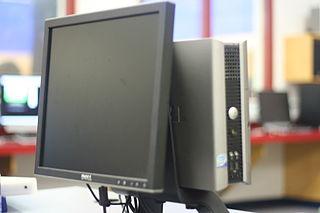 Használt számítógép monitorral