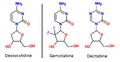 Deoxcytidine, Gemcitidine and Decitabine.png