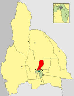 location of Departamento Caucete in San Juan Province
