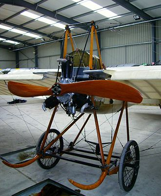 Société pour l'aviation et ses dérivés - The United Kingdom's second oldest flying aircraft, an original 1911 Deperdussin monoplane in the Shuttleworth Collection
