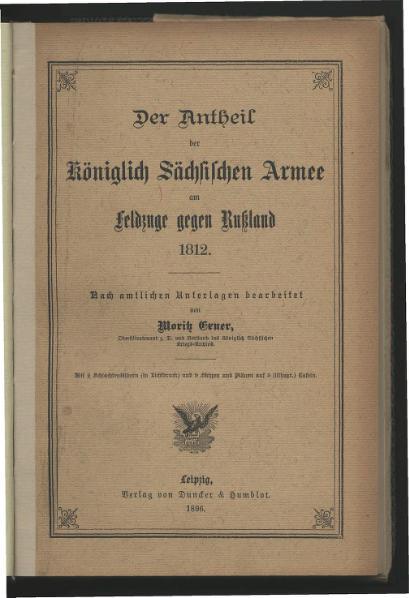 File:Der Antheil der Koeniglich Saechsischen Armee am Feldzuge gegen Rußland 1812.djvu