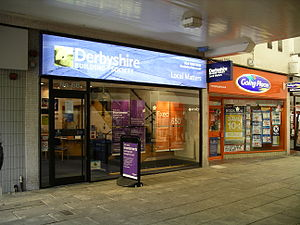 Derbyshire Building Society - The branch in Coventry (signage before Nationwide merger)