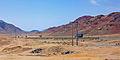 Desert Highway near Wadi Rum in southern Jordan.jpg