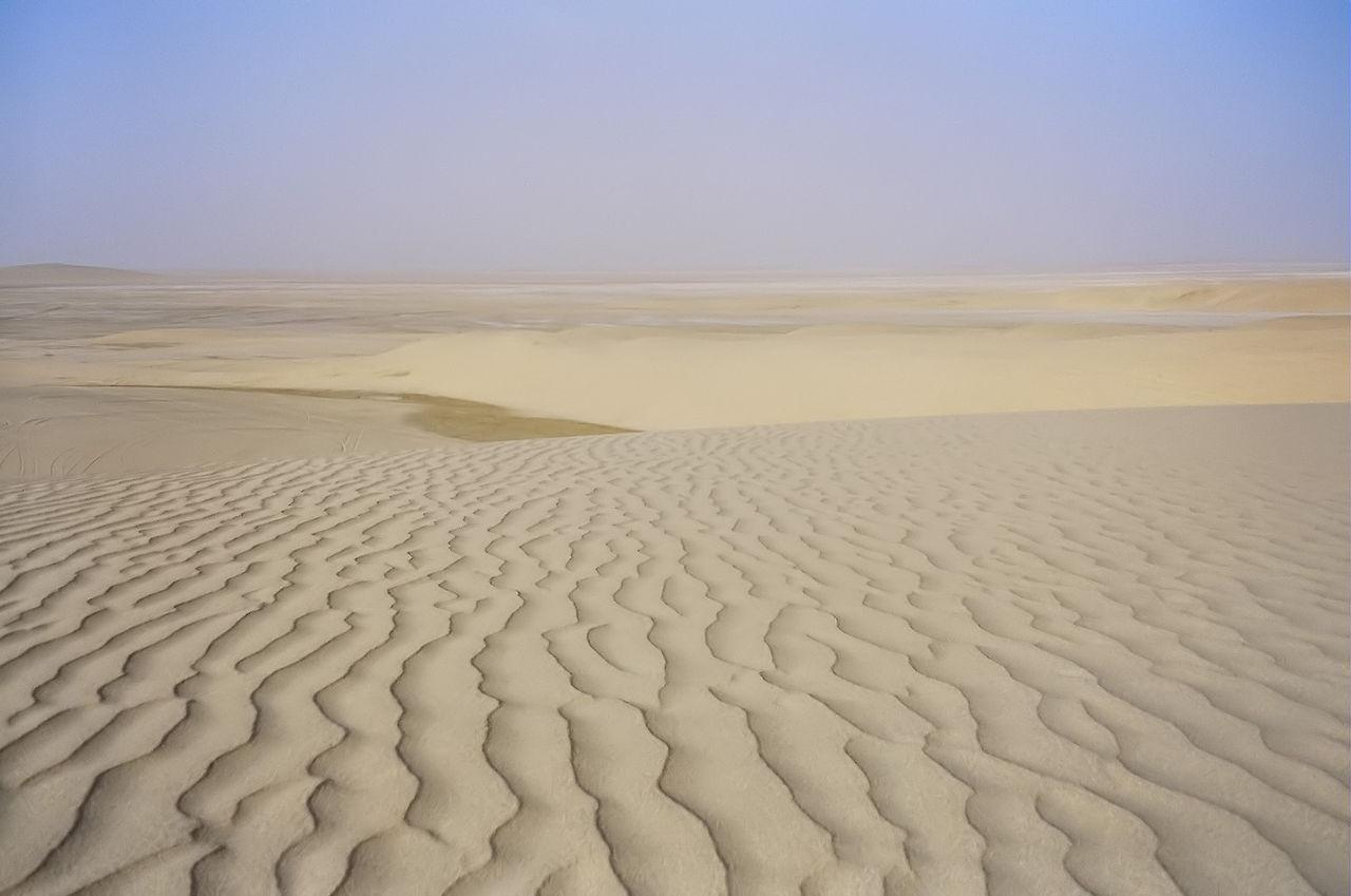 Lansekap gurun di Qatar