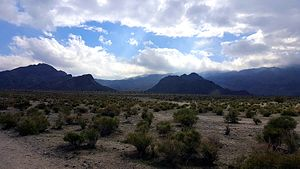 Indian Wells, California - Hiking trails in the undeveloped area of Indian Wells