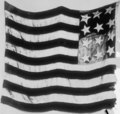 """Detail, """"Starry Flag"""" of Jno. Paul Jones, the oldest U.S. Flag in existence LCCN2016821429 (cropped).tif"""