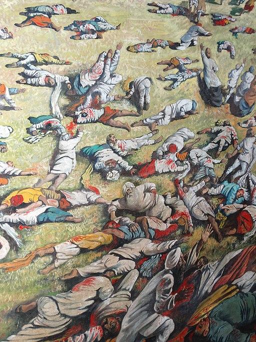 Detail of Mural Depicting 1919 Amritsar Massacre - Jallianwala Bagh - Amritsar - Punjab - India (12675536215)