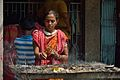 Devotee with Incense - Panchananda Mandir - Narna - Howrah 2014-04-14 0294.JPG