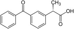 Strukturformel von Dexketoprofen