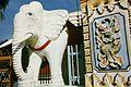 Dhammikarama Buddhist Temple white elephant statue.jpg
