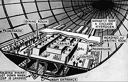 Diagram of Hindenburg interior 1936 International News Photos/Minneapolis Journal, Public domain, via Wikimedia Commons