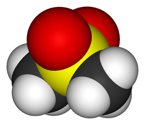 Methylsulfonylmethane - Image: Dimethylsulfone 3D vd W