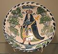 Dish commemorating George I or George II, c. 1714-1735, probably Bristol, tin-glazed earthenware - Gardiner Museum, Toronto - DSC01265.JPG