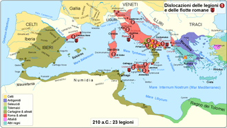Battle of Canusium - Strategic situation in 210 BC