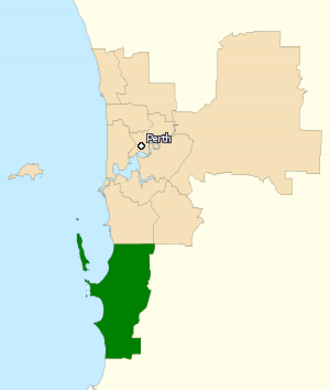 Division of Brand - Division of Brand in Western Australia, as of the 2016 federal election.