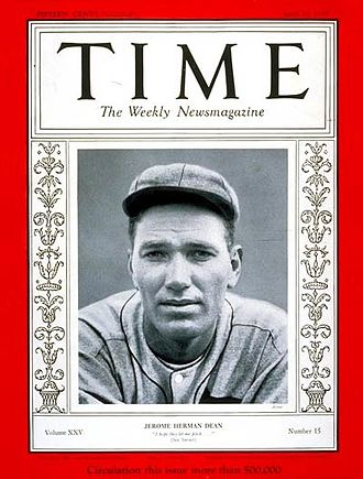 Dizzy Dean - Dean on the cover of Time magazine