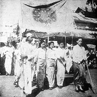 Aung San - Dobama Asiayone protests