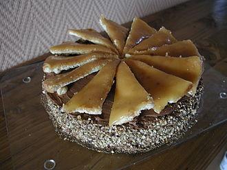Dobos torte - Home-made Dobos torte