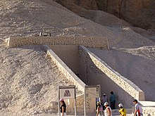Entrance to the tomb of Ramesses V, Valley of the Kings