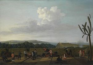 Battle of Havana (1762) - British siege guns before Morro Castle, by Dominic Serres
