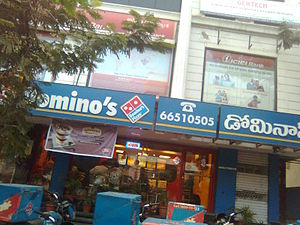 Domino's Pizza - Domino's outlet in Himayatnagar, Hyderabad, Telangana, India.