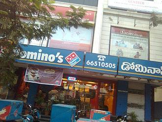 Domino's Pizza - Domino's outlet in Himayatnagar, Hyderabad, Telangana, India.