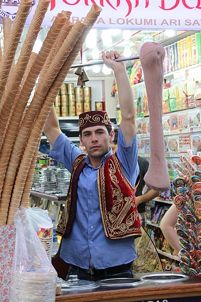 Dondurma - Turkish ice cream. From Best Street Foods in Istanbul, Turkey