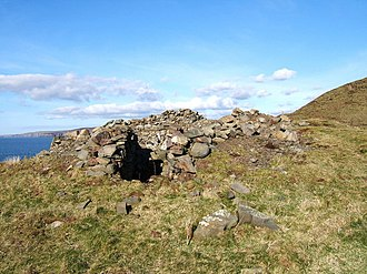 Doon Castle Broch - Image: Doon Castle Broch, High Ardwell Bay geograph.org.uk 137736