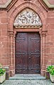 Door of the convent of Saint Joseph in Clairvaux-d'Aveyron.jpg