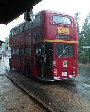 Sri Lanka Transport Board - An AEC Routemaster at Godagama junction in Homagama, Sri Lanka