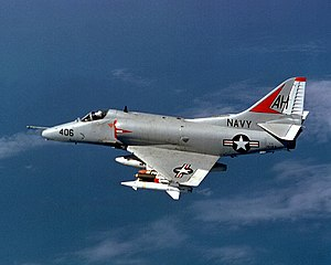 Douglas A-4E Skyhawk of VA-164 in flight over Vietnam on 21 November 2724bcabfe