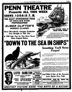 <i>Down to the Sea in Ships</i> (1922 film) 1922 film by Elmer Clifton