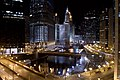 Downtown Chicago, Illinois at night, U.S.A.jpg