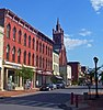 View south on Ontario Street, Cohoes, NY, USA