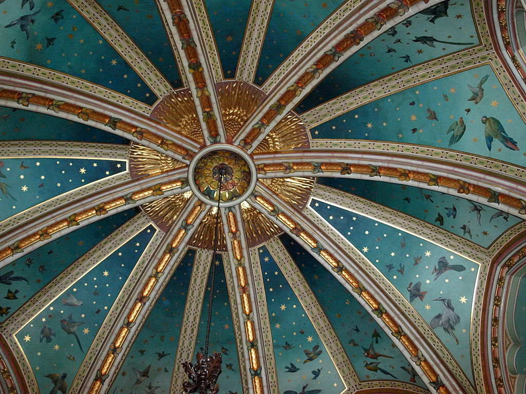 File Drawing Room Ceiling Castle Coch Wales Jpg