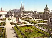The Zwinger Palace in 1900.