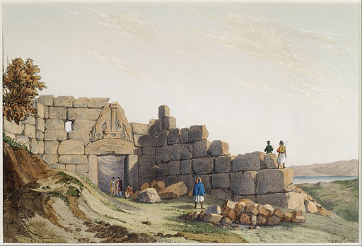 Du Moncel Theodore - The Lion Gate at Mycenae - Google Art Project