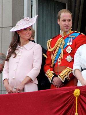 Personal aide-de-camp - The Duke of Cambridge wearing the insignia – aiguillette (braided ropes) over his right shoulder and chest