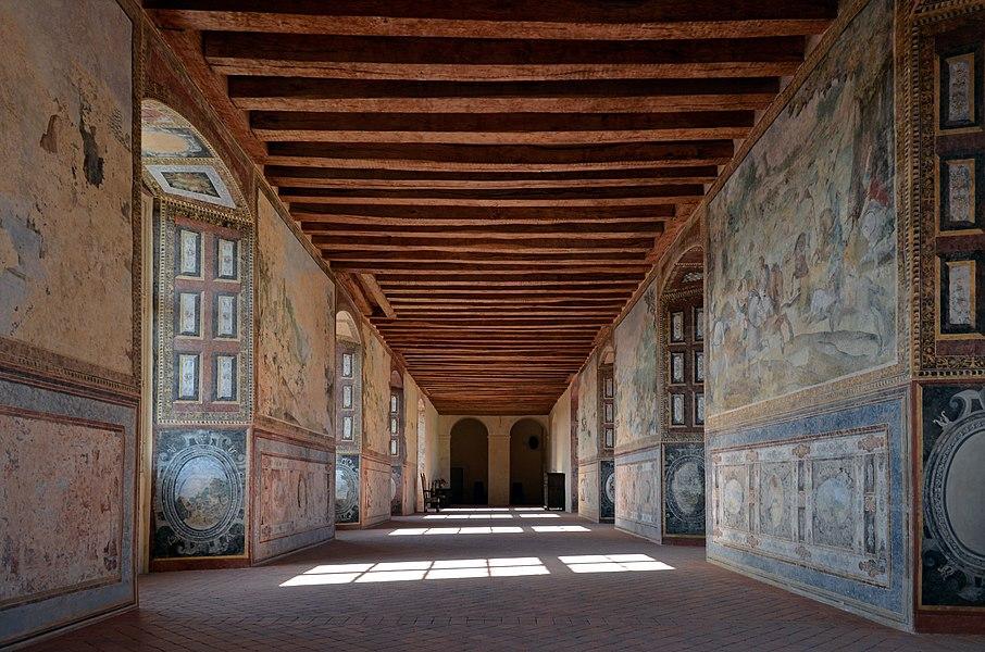 Durtal castle frescos - Durtal- Maine-et-Loire, France