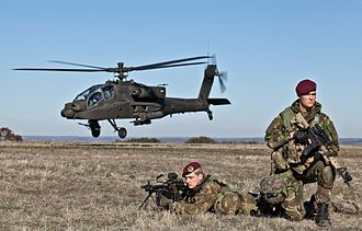 Royal Netherlands Army - 13 Infanteriebataljon RSPB and Royal Netherlands Air Force's AH-64.