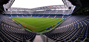 FC Red Bull Salzburg - Salzburg moved to their current stadium, now known as the Red Bull Arena in 2003