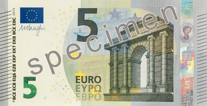 EUR 5 obverse (2013 issue)